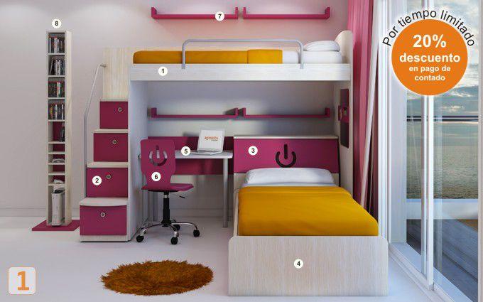 Mueble camas marineras varones agioletto muebles - Muebles habitaciones infantiles ...