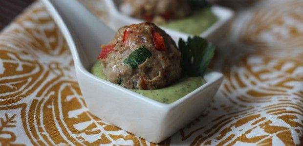 Southwest Meatballs with Creamy Cilantro Dipping Sauce: Creamy ...