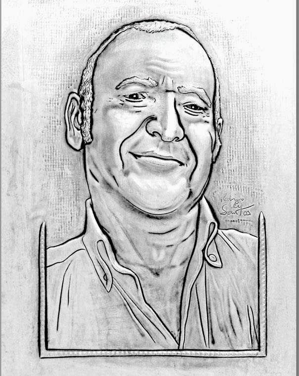 ArteyMetal: Retrato. Padre de Gloria 2