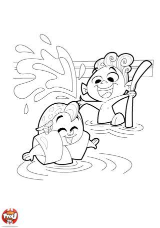18 best images about piscine on pinterest for A la piscine dessin