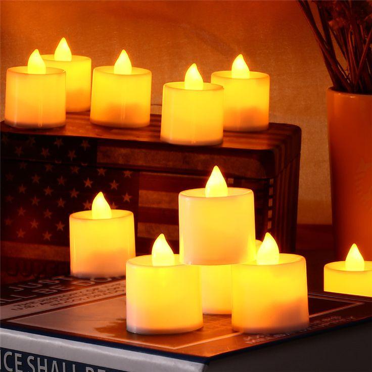 12pcs/pack New Candle Shape LED Fashion Polypropylene Plastic Fliker Flameless Light For Wedding Party Holiday #Affiliate
