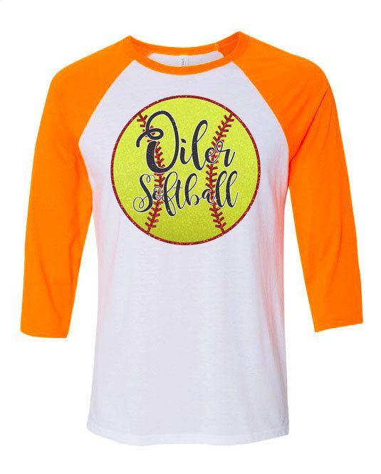 Glitter Softball shirt, softball t-shirt, softball mom shirt, softball team shirt, raglan baseball shirt, team spirit fan shirt