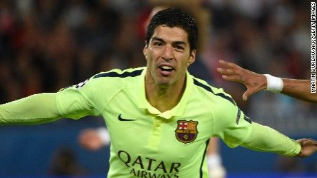 Eight goals, a big upset and two wonder strikes from Luis Suarez highlighted a pulsating night of Champions League quarterfinal action Wednesday.