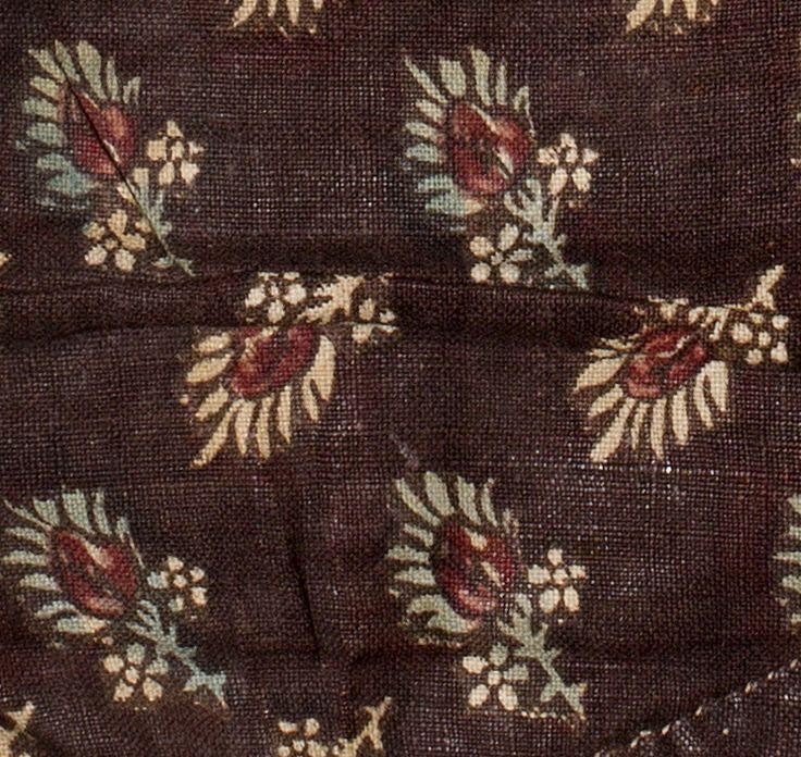Date:  1780-1800 Materials:  Cotton; Linen Techniques:  Block printed, Mordant style, Woven (plain), Discharge style