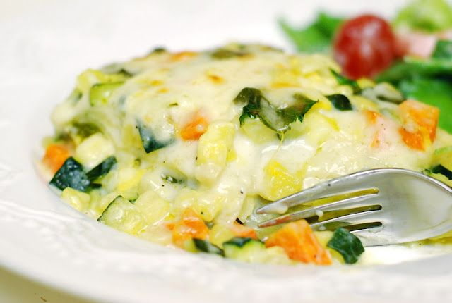 Oh SO Delicioso!: Roasted Vegetable White Lasagna