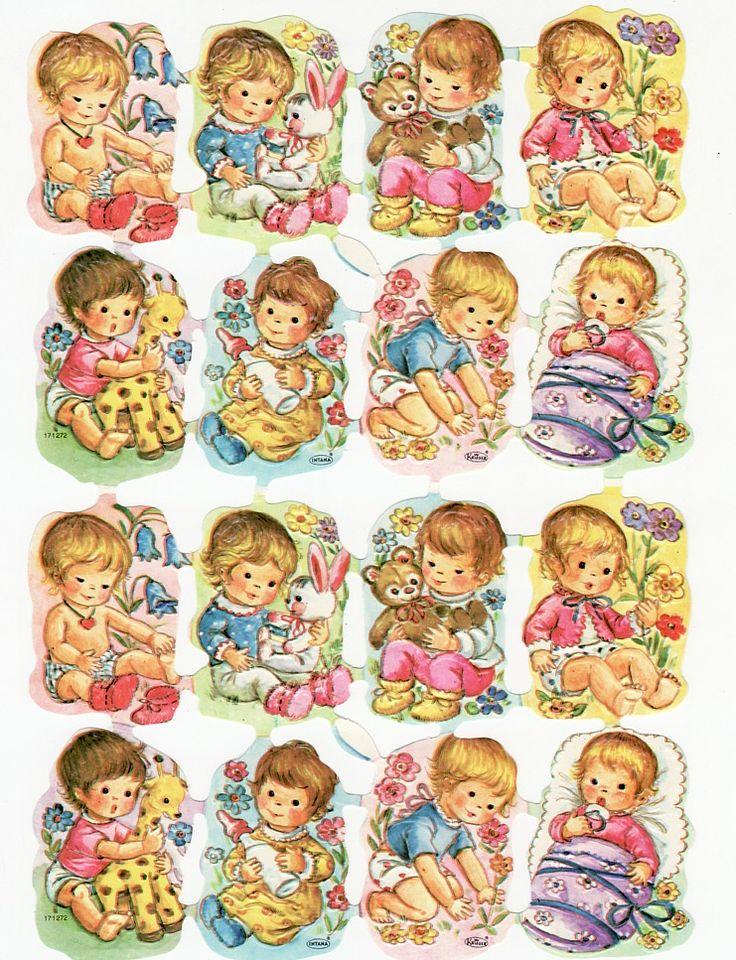 Troquelado Vintage Niños con juguetes Kruger (Image1)