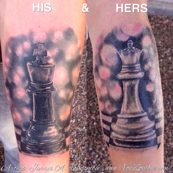 His and Hers King/ Queen Chess pieces created by Jarris Vonzombie