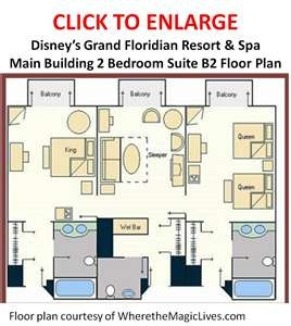 Grand floridian 2 bedroom villa floor plan for 2 bedroom villa floor plans