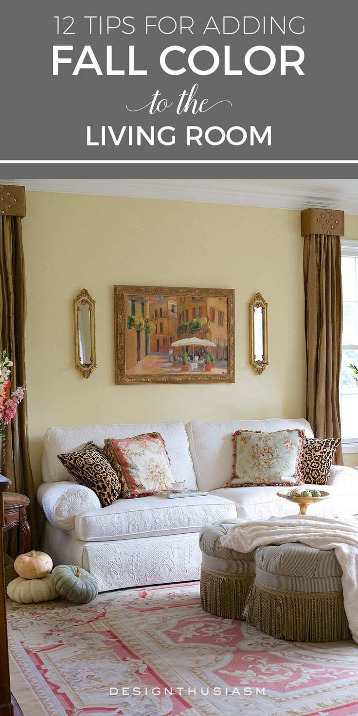 12 tips for adding fall color to the living room fall - Funky decorating ideas for living rooms ...