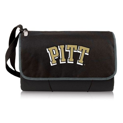 Pitt University Panthers Throw Blanket Built-In Tote