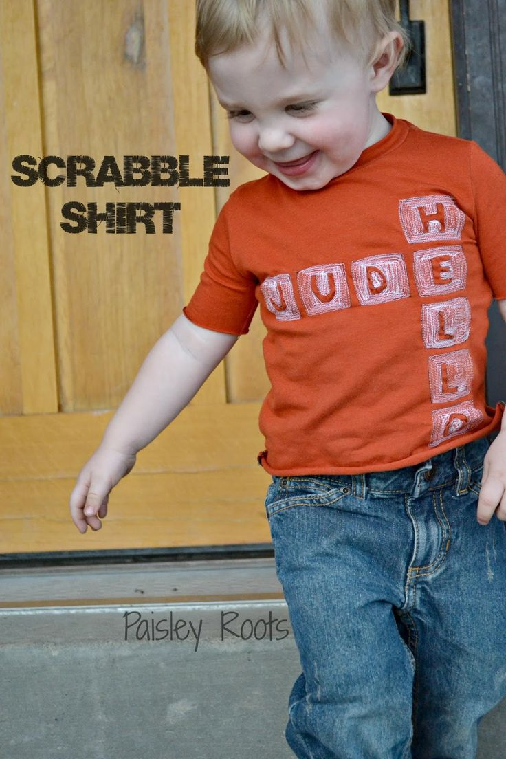 Paisley Roots: Crafting Con: Scrabble Shirt