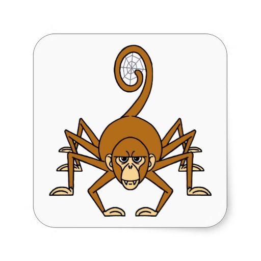 Spider Monkey Square Sticker