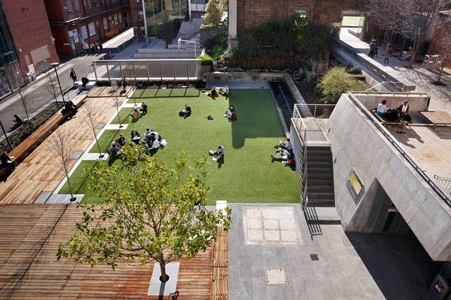 RMIT University lawn by Peter Elliott Architecture and Urban Design.