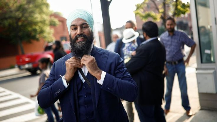 NDP faithful hand the 38-year-old Canadian Sikh politician a decisive first-ballot victory.