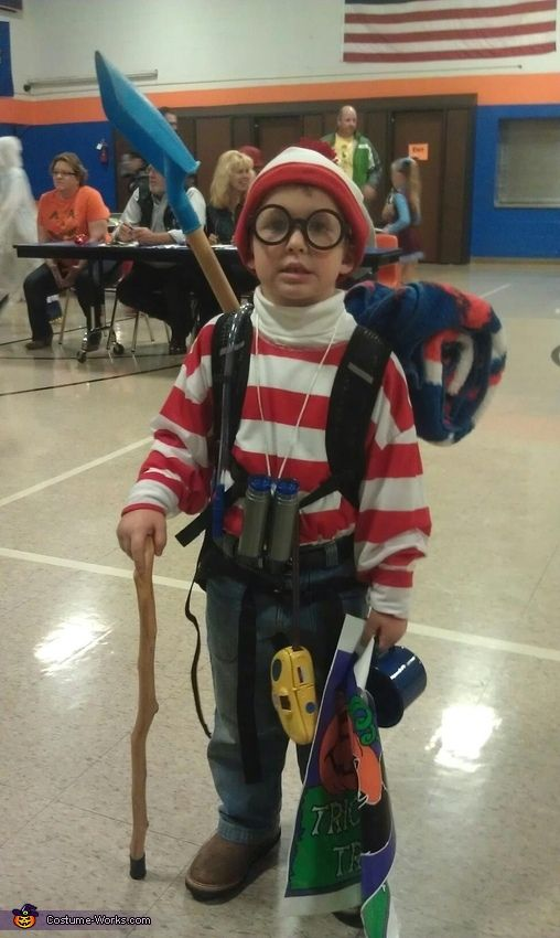 waldo costume - Homemade Halloween Costume Ideas For Boys