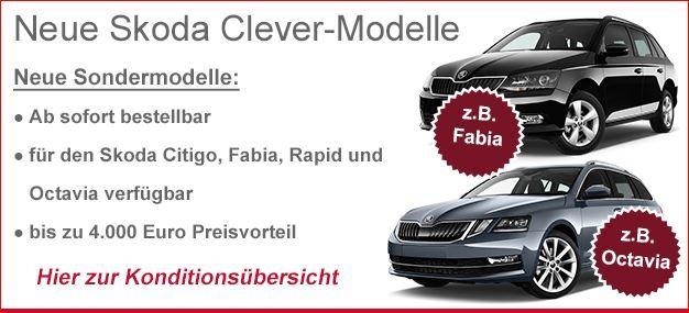Skoda Clever Modelle diese Woche zu TOP- Konditionen bestellbar