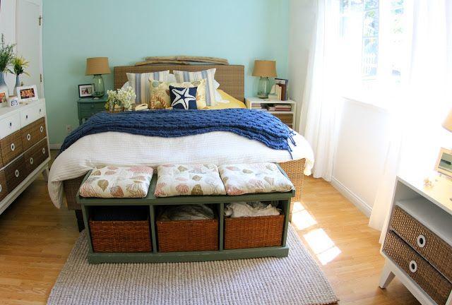 Cute beach house bedroom!