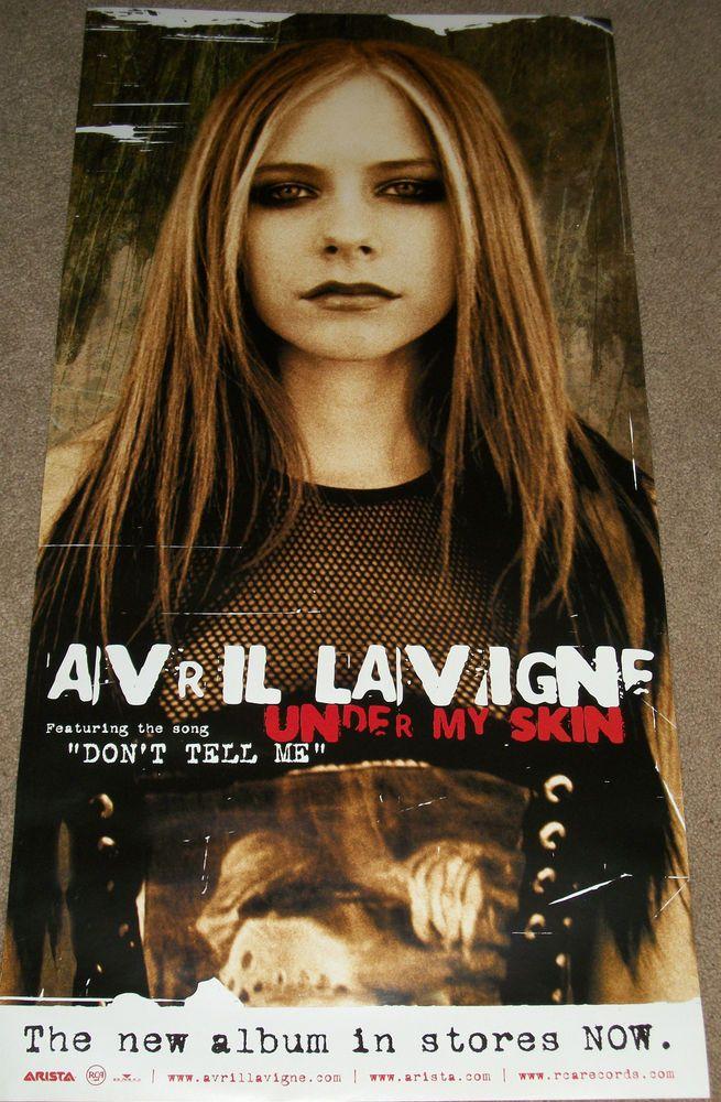 """Avril Lavigne / Under My Skin / 2004 Arista Records 12"""" X 24"""" Promo Poster RARE"""