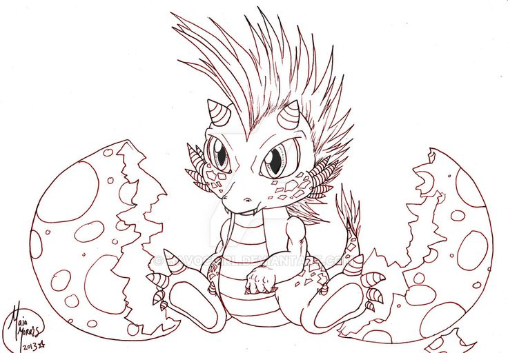 Cute Baby Dragon Hatching. Work in Progress! by HavocGirl on ...