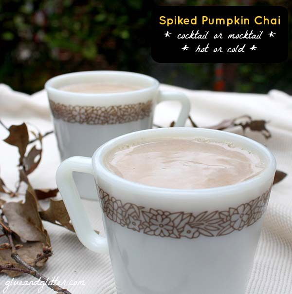 You can serve this creamy pumpkin tea hot or cold and spiked or not!