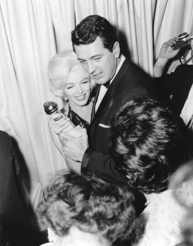 Marilyn with Rock Hudson at the Golden Globe Awards, March 5, 1962.