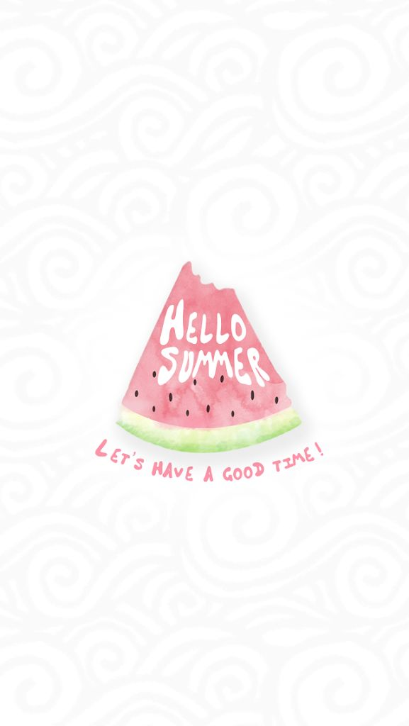 summer. season. watermelon. let's have a good time.
