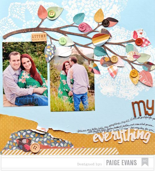 #papercraft #scrapbook #layout  I so need to lift this for a layout for Nina & Todd.  It fits there wedding theme.