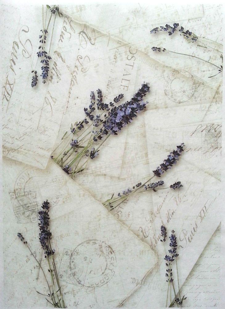 Rice Decoupage Paper / Decoupage Sheets  / Scrapbooking / Lavender s Letters