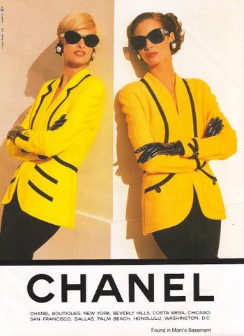 1980 Fashion Advertising Agency 1980s Chanel 6 ( VIP Fashion Australia www.vipfashionaustralia.com - international clothing store )