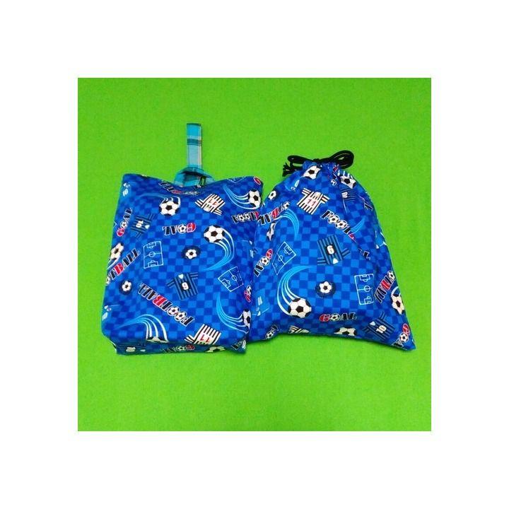 メルカリ商品: 青色サッカーとデジタル迷彩の体操服袋上靴袋入園入学準備品 #メルカリ