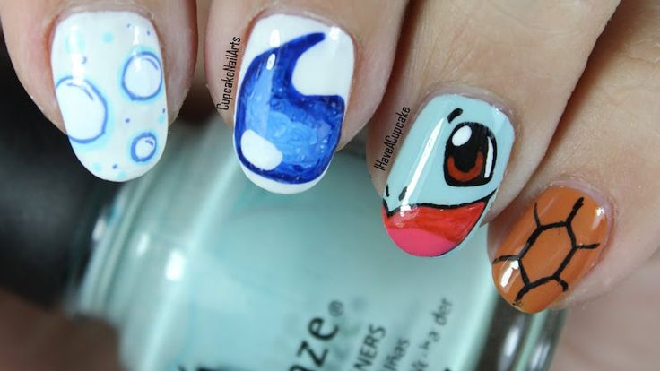 You can catch everyone's attention with these Pokémon nails.