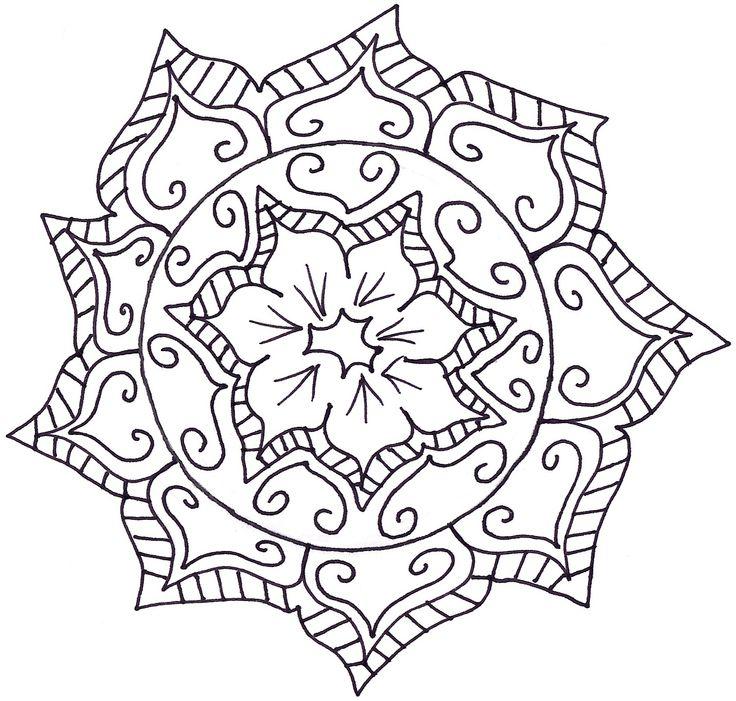 My Mandala flower I doodled the other day.