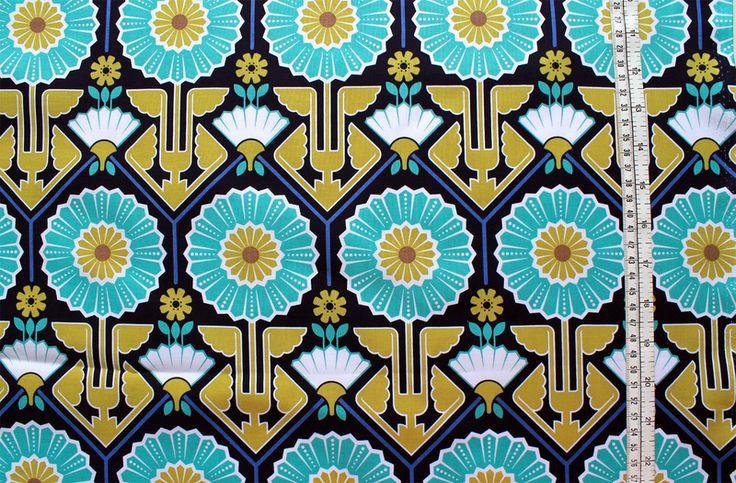 Stoffe gemustert - JOEL DEWBERRY MODERNMEADOW sunflower lake - ein Designerstück von kleinkariert-stoffversand bei DaWanda