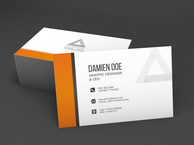 Free Download Realistic Shaded Business Card Mockup Free Psd Business Card Mock Up Mockup Free Psd Free Business Card Mockup