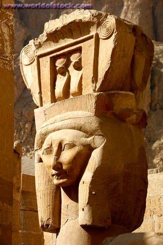 Hathor column at Hatshepsut Temple, Egypt.