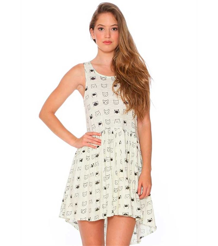 Vestido con estampado de gatos de Pepa loves (54,90 e.)