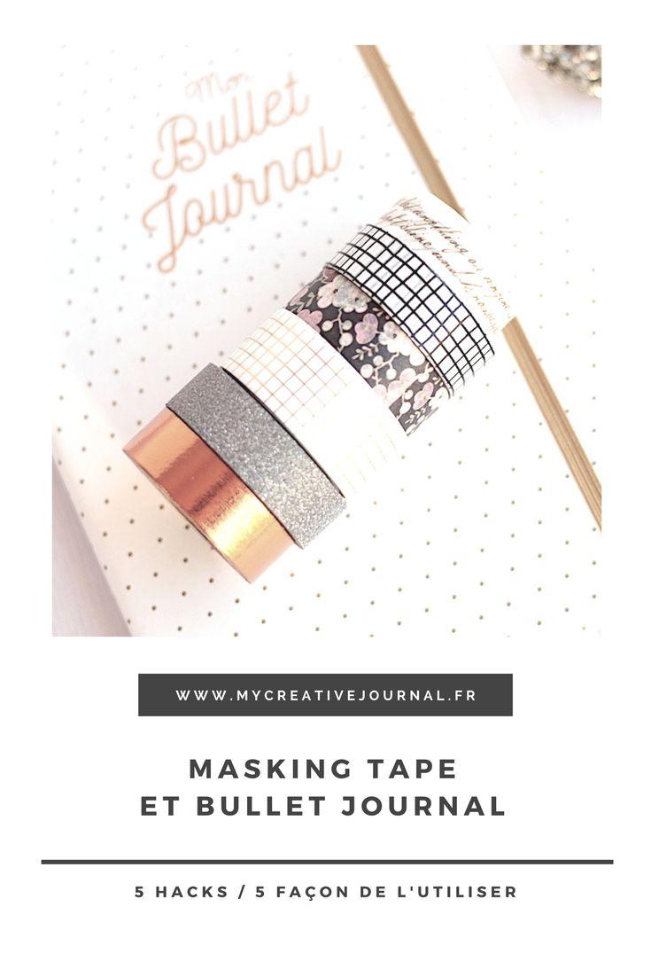 utiliser masking tape dans son bullet journal idées et astuces