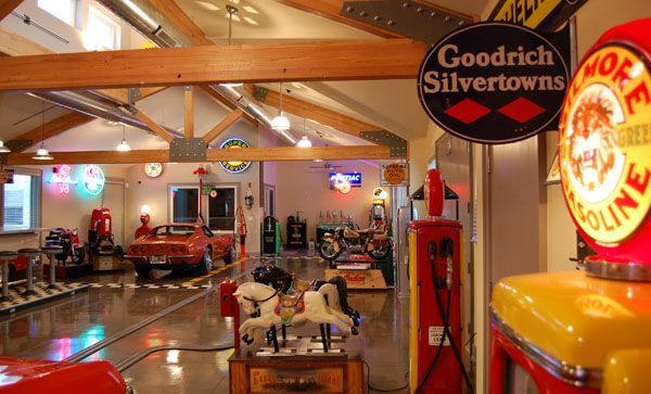 Man Cave Toys : A garage for man who likes his toys caves