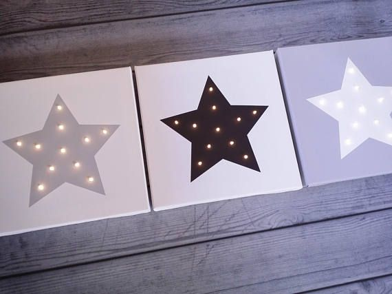 Check out this item in my Etsy shop https://www.etsy.com/listing/559633800/star-lights-nursery-decor-light-up-star