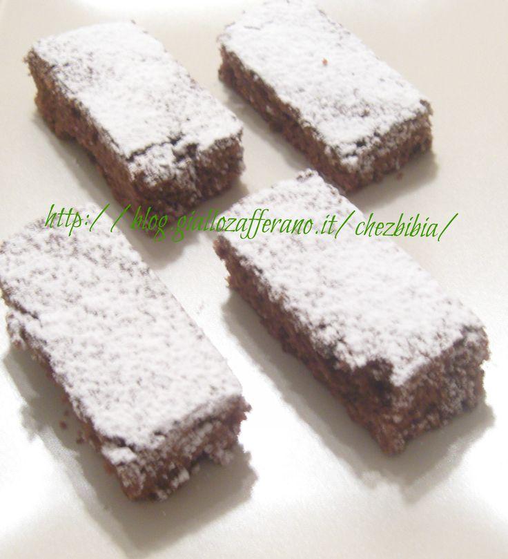 Tronchetti al cacao e gocce di cioccolato