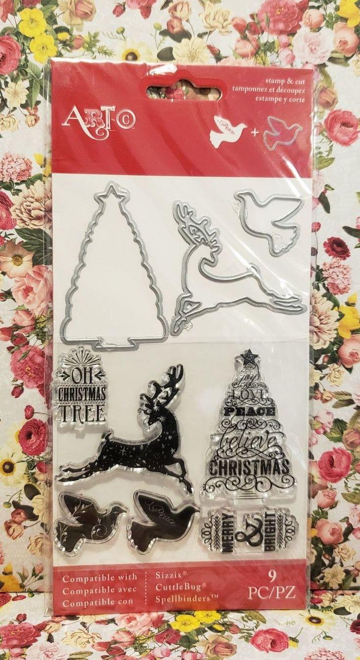 ArtC OH CHRISTMAS TREE Stamps Dies Mercari in 2020
