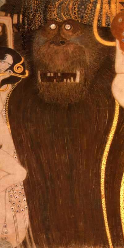 Gustav Klimt. Beethoven Frieze (detail) (1902): Artists Gustav Klimt, Gostav Klimt, Gustav Klimt 1862 1918, 1902, Klimt Beethoven, Klimt Art, Klimt Gustav