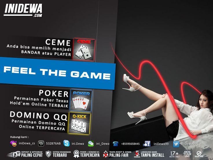 iniDewa.com - Judi Poker, Domino dan Bandar Ceme Online Terpercaya dan Terbaik di Indonesia