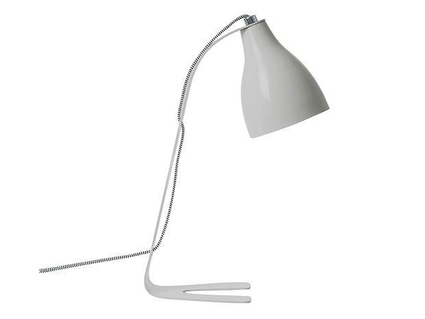 Lampka na biurko Barefoot jasno szara Leitmotiv