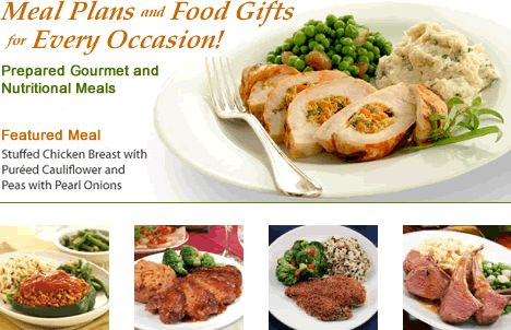 Chef prepared gourmet meals with delivery service to any home or office nationwide. Meal options include: Diabetic friendly meal plans, Weight loss meals, Low sodium meals, Senior meal plans, Low carb meals, and Healthy lifestyles meals.  All are prepared using proven gourmet meal recipes. Home delivered chef prepared meals for any occasion.