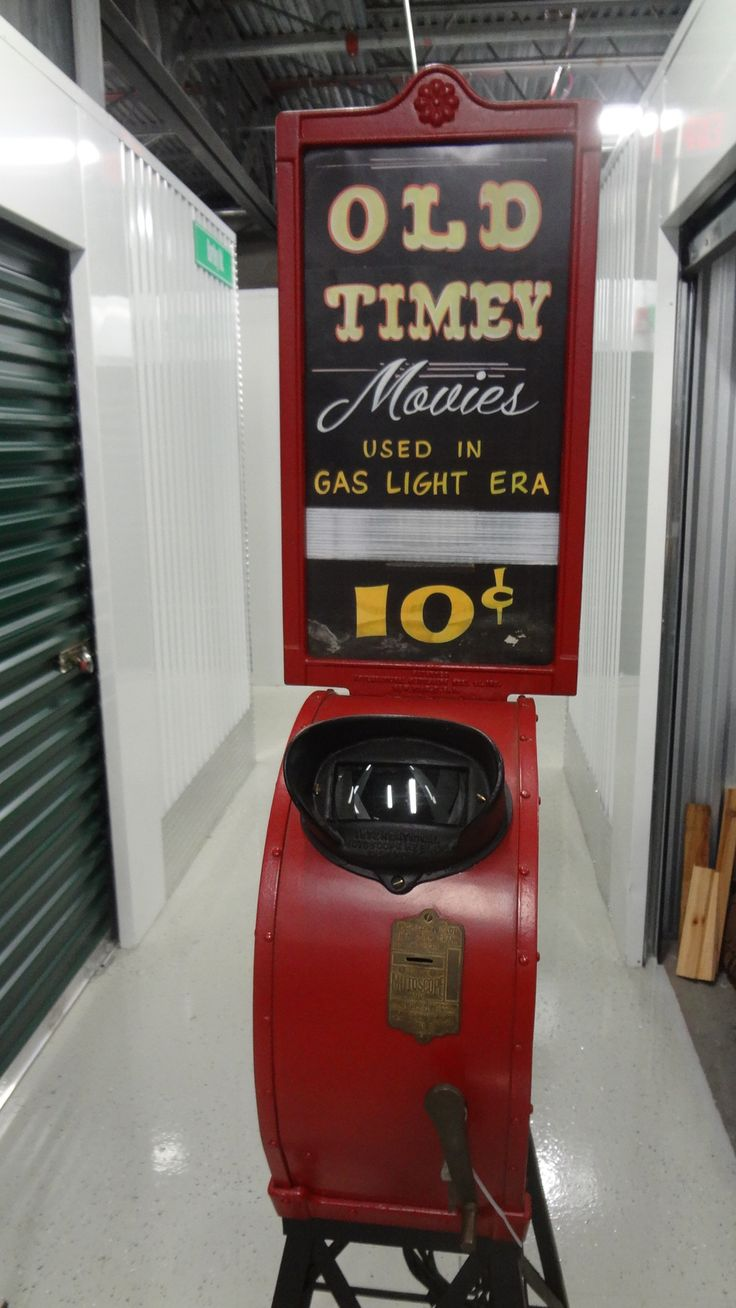 Antique penny arcade movie machines