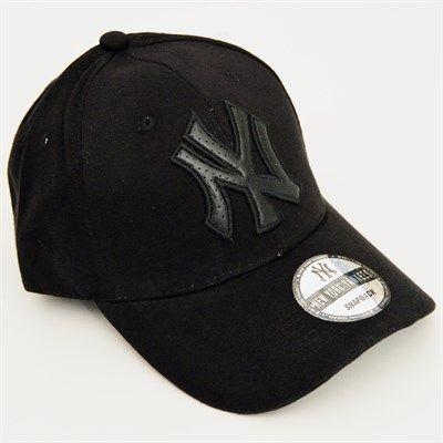 Erkek NY Logolu Spor Cap Şapka Siyah