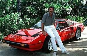 Tom Selleck sported a red Ferrari 308 GTS