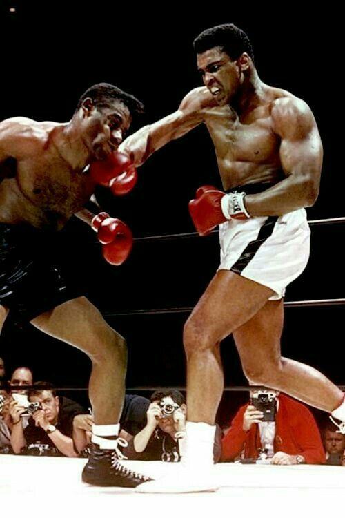 Muhammad Ali, el mejor boxeador del mundo, norteamericano que se negó a ir a la Guerra de Vietnam además siempre fue un luchador de los derechos humanos. Murió de Parkinson.