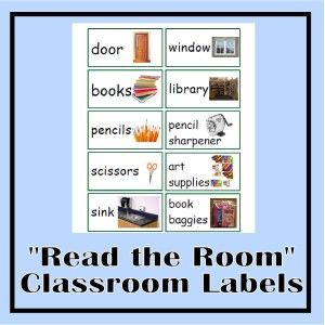 Read the Room classroom labels - great for home or school.  Print in color and laminate for durability.  Designed to assist emerging readers and English language learners to acquire new words.  Also work great as flashcards with visuals.